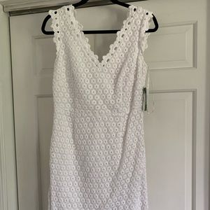 NWT White Lilly Pulitzer Lace Dress, Size 6